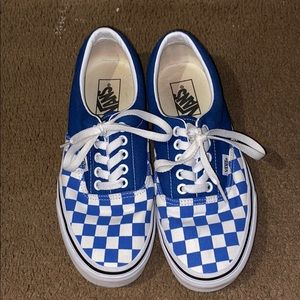 Vans Era Lapis Blue Checkerboard Canvas Shoes